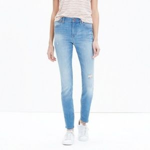 Madewell High-Rise Skinny Jeans in Sadie Wash